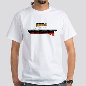 Titanic/Hindenburg White T-Shirt